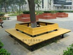 河北公園椅子供應、戶外休閑椅子、實木塑木椅子、鑄鐵退椅子