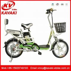 廠家直銷卡瓦崎電動車16寸電動自行車踏板車電動助力車電單車