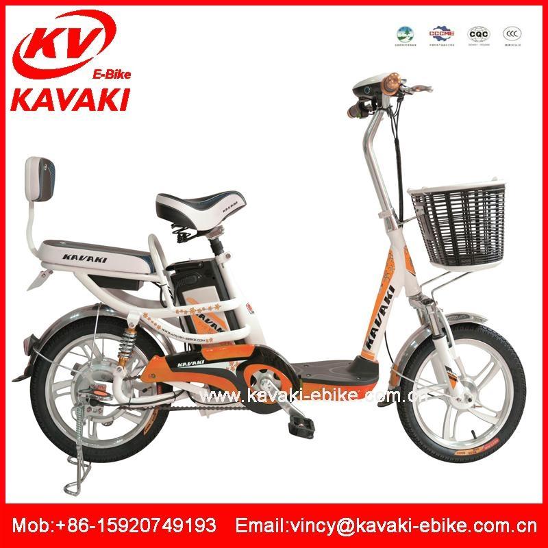 厂家直销卡瓦崎电动车16寸电动自行车踏板车电动助力车电单车 3
