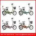 厂家直销卡瓦崎电动车16寸电动自行车踏板车电动助力车电单车 5