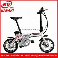 廣州鋰電折疊電動車助力電單車鋁合金雙碟剎迷你折疊電動車
