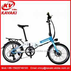 Hot sale 20inch downhill mountain bike with battery electric folding bicycle