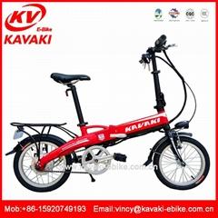 16寸折叠电动车 锂电池便携代步车迷你超轻折叠单车