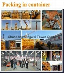 China Mingwei Construction Tower Crane Qtz63 (TC5013) with Max Load 6 Tons/Jib L