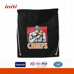 promotional cheap polyester drawstring bag