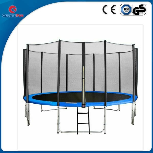 Create fun 12ft large round jump trampoline with safety net  2