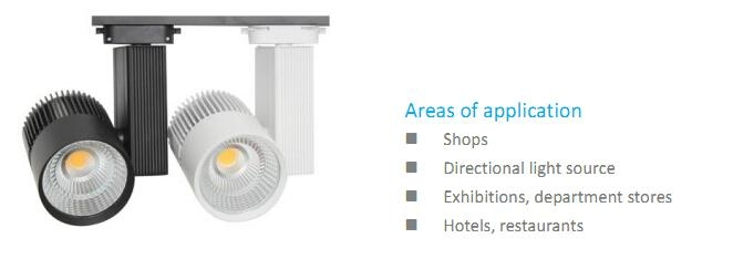 High CRI 90Ra 2-wire LED Track Ceiling Light 2