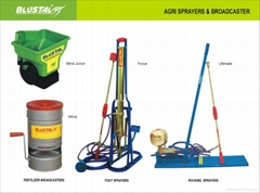 FOOT SPRAYER, ROCKING SPRAYER AND FERTILIZER BROADCASTERS