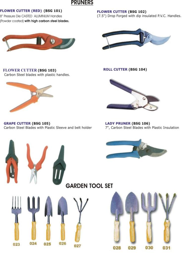 Landscape Tools Names And Pictures : Garden tools india manufacturer product catalog blue stallion