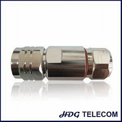 N Male Straight Connector (Plug) For 1/2 In Superflex Coaxial Cable