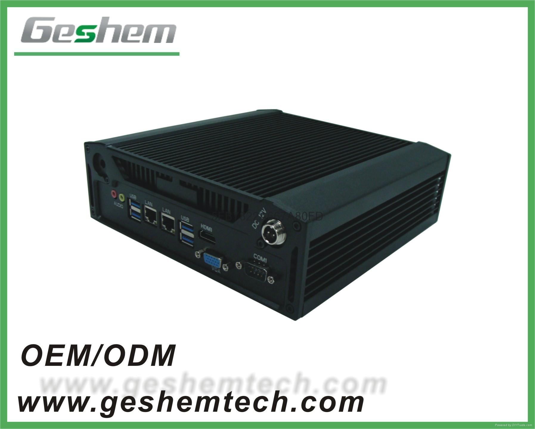 四代酷睿I3/I5/I7迷你無風扇嵌入式安裝合式工控機 1
