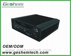 四代酷睿I3/I5/I7迷你无风扇嵌入式安装合式工控机
