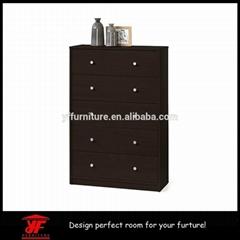 Dark Brown Wood 3 piece Set Modern Used Bedroom Furniture for sale