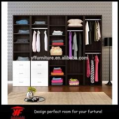 Latest Bedroom Diy furniture Designs Wooden Veneer Closet Cheap Wardrobe