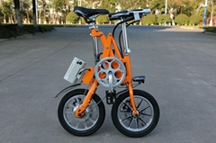 14inch portable mini folding smart e-bike with LCD display