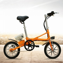 36V/ 8.8AH 14'' electric bicycle one second folding