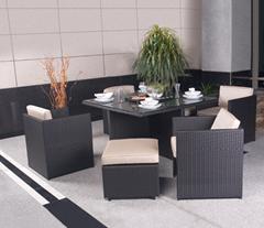 室外花园休闲藤编桌椅家具