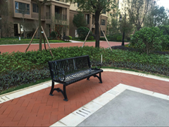 戶外公園廣場鐵藝休閑椅鐵藝椅子戶外鐵藝桌椅
