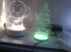 創意3D臺燈 LED小夜燈禮品燈裝飾燈聖誕老人燈床頭燈