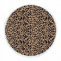 Leopard grain round towe