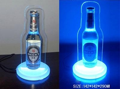 Acrylic wine display with led lights 1