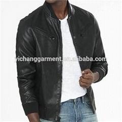 Men''s Blk Lamb Bomber Leather Jackets