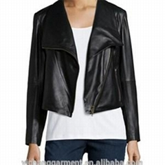 Women Leather Jackets With Lapel