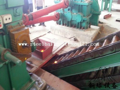 Steel ball skew rolling machine 1