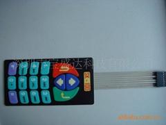 Low carbon wire resistance silver oil oil PET button membrane switch panels