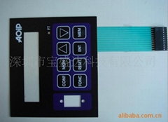 Membrane switch with blind dots