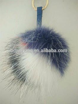 743667f517 faux fur pom poms fur ball keychain for bag charm - fur pompoms ...