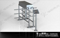 High security Full Height Rotating Turnstile for Bank.Prison