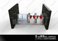High durable  Wing Turnstile with acrylic soft arm forr kidgarden