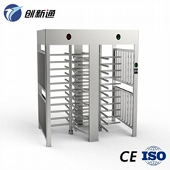 CE high quality dual door Electronic Full height Turnstile