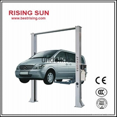 Two post car lifting machine for workshop