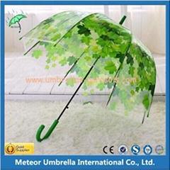 Plastic Straight Advertising Umbrella