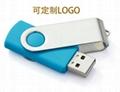 旋转工厂定制u盘16g 优盘4/8g 创意商务礼品高速USB 2.0 3.0 U盘 2
