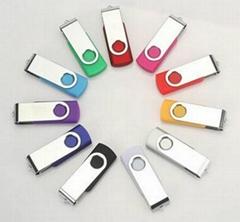 旋转工厂定制u盘16g 优盘4/8g 创意商务礼品高速USB 2.0 3.0 U盘