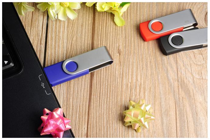 旋轉工廠定製u盤16g 優盤4/8g 創意商務禮品高速USB 2.0 3.0 U盤 4