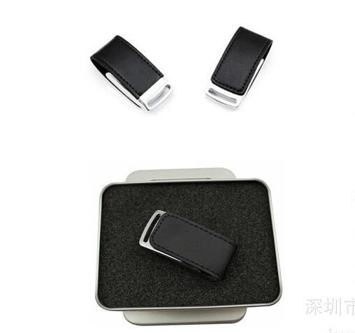 旋转8GB皮套U盘 礼品优盘工厂logo定制OEM/ODM  2