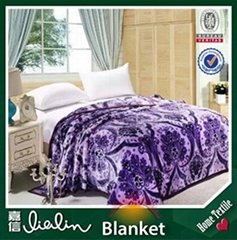 China supplier cheap flannel fabric printing blanket