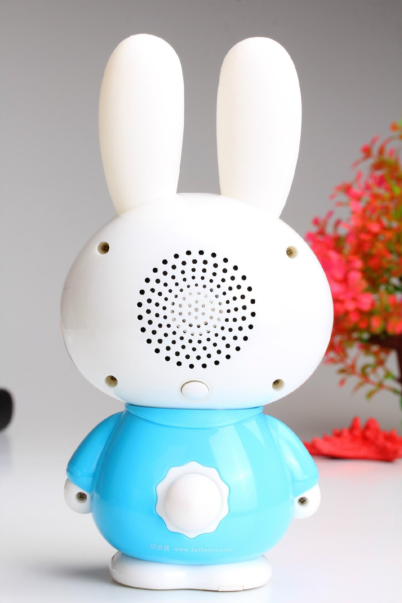工厂供应贝贝优可儿童早教故事机Q5可充电下载录音抗摔带夜灯 3