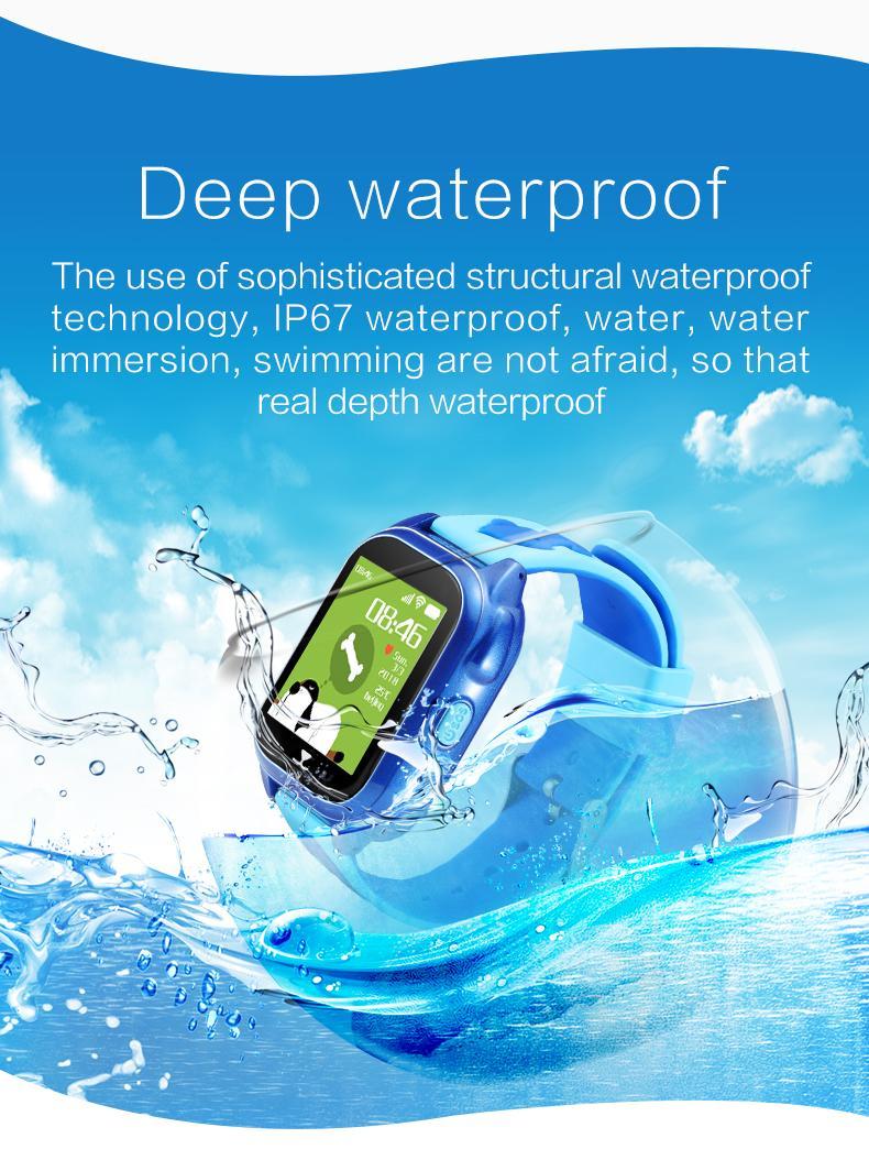 工厂直供GPS游泳防水智能儿童手表W5 4