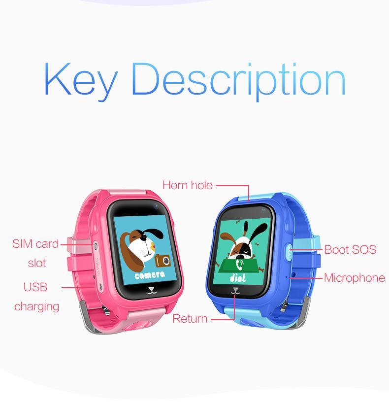 工厂直供GPS游泳防水智能儿童手表W5 5