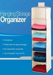 bedroom hanging closet organizer