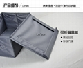 Hot sale grey 100% polyester Fabric Foldable shoe Storage Box with cover  3