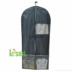 Newest polyester foldable garment bags with zipper customized mens suit cover ba
