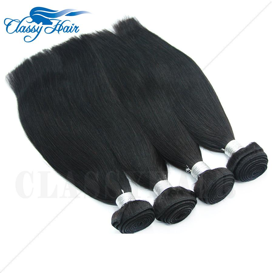 7A hotsale Raw Unprocessed Straight Peruvian Weft Human Hair Weave Fast Delivery 4