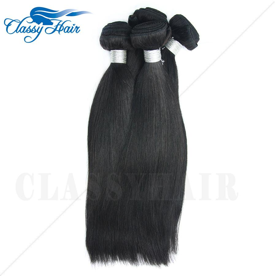 7A hotsale Raw Unprocessed Straight Peruvian Weft Human Hair Weave Fast Delivery 5