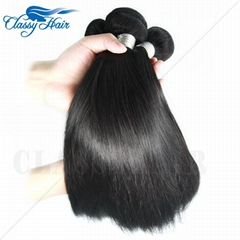 7A hotsale Raw Unprocessed Straight Peruvian Weft Human Hair Weave Fast Delivery